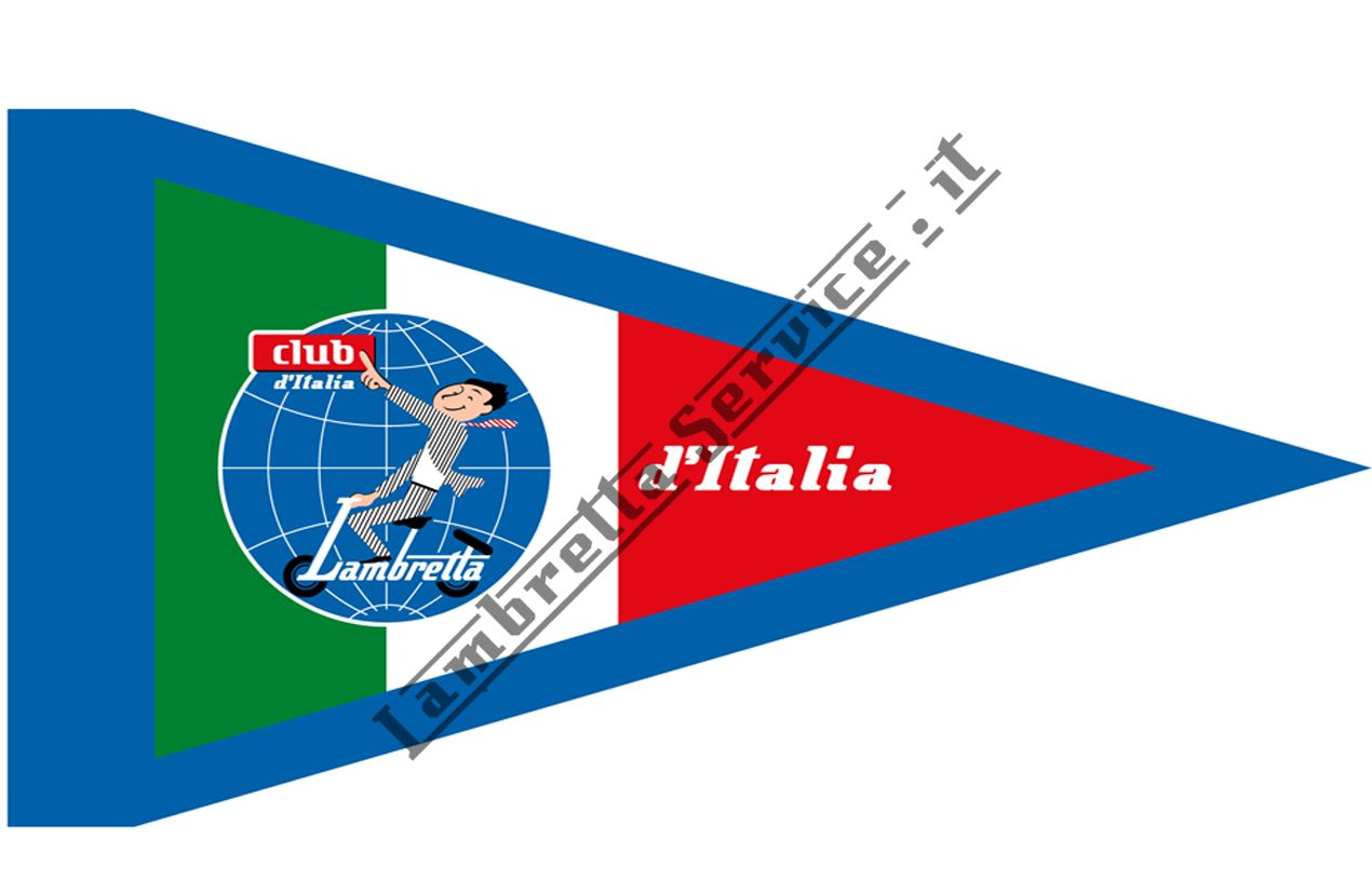 Foto del prodotto - Bandierina Lambretta club d'Italia TRICOLORE